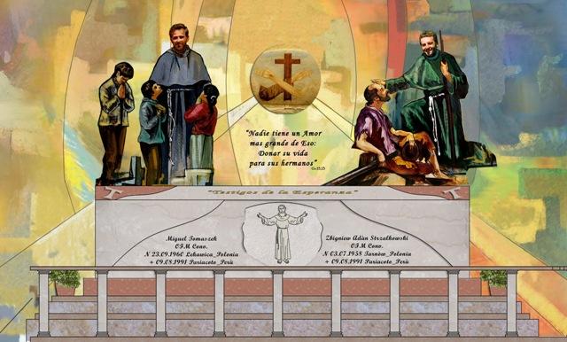 Construyen cripta para los mártires Miguel y Zbigniew