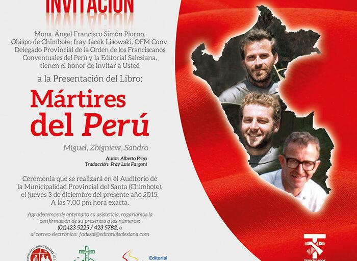 Editorial Salesiana presentará libro Mártires del Perú