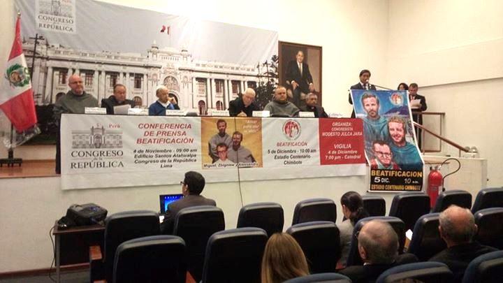 Presentaron programa oficial de la ceremonia de beatificación en el Congreso