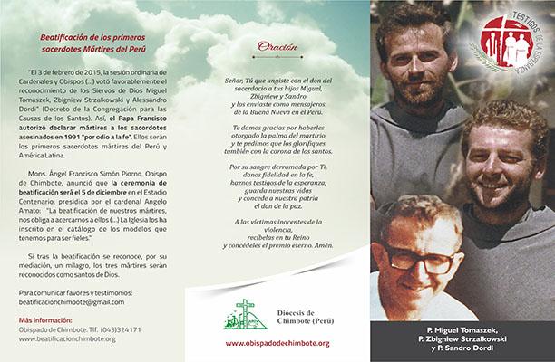 Se publicó tríptico informativo sobre los mártires de la Diócesis de Chimbote