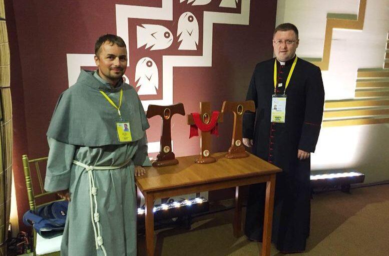 Los beatos mártires de Perú con el Santo Padre
