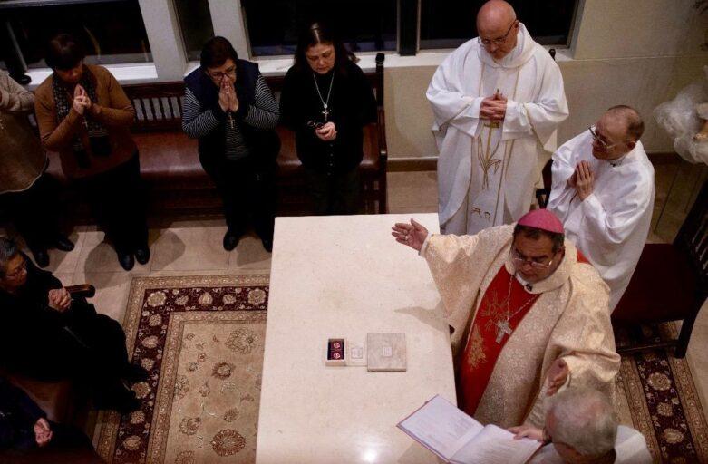 Mártires de Pariacoto en la capilla de PAX TV
